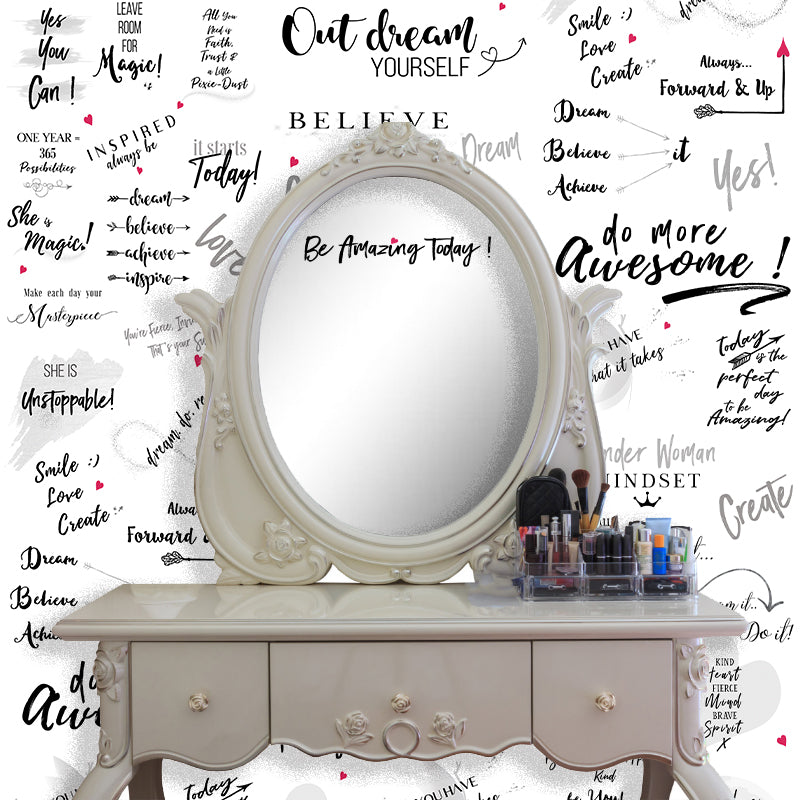 Girl Power 24/7 Motivational Wallpaper - Be Unstoppable for Home  Décor with Inspirational Quotes and Affirmations for Women
