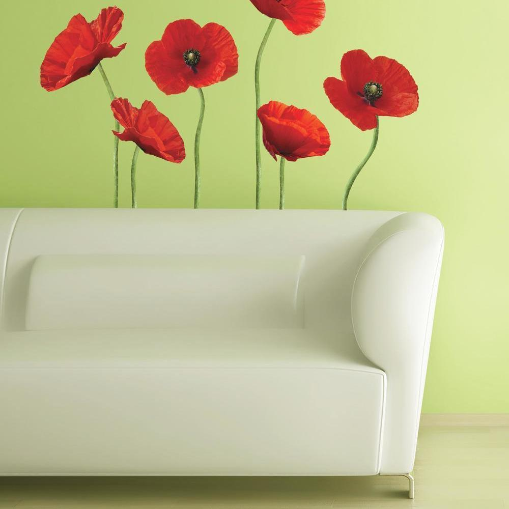 Poppies at Play Giant Wall Decals Media