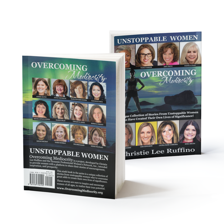 Unstoppable Women Overcoming Mediocrecity Front and back book