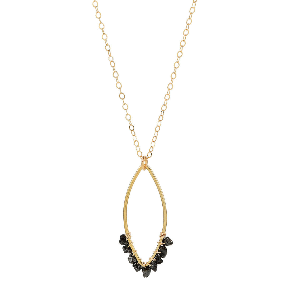 Raw Diamond Gold Necklace - Celebrity Necklace