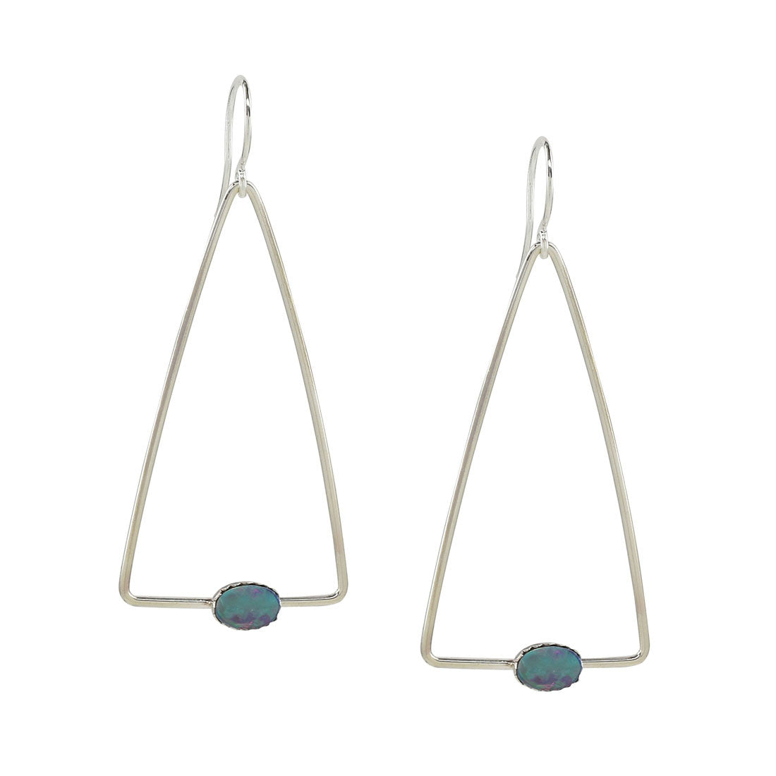Opal Triangle Earrings - Coachella Celebrity Earrings