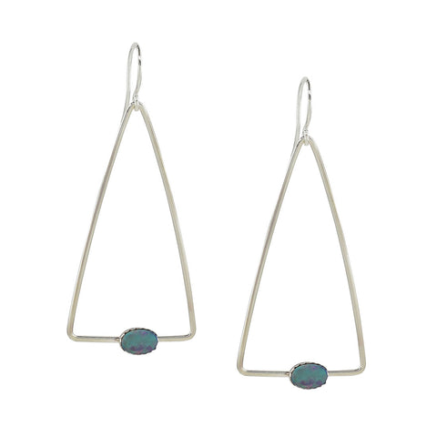 Opal Triangle Earrings