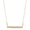 Gold Bar Necklace with Pearls - Pearl Bridesmaid Jewelry