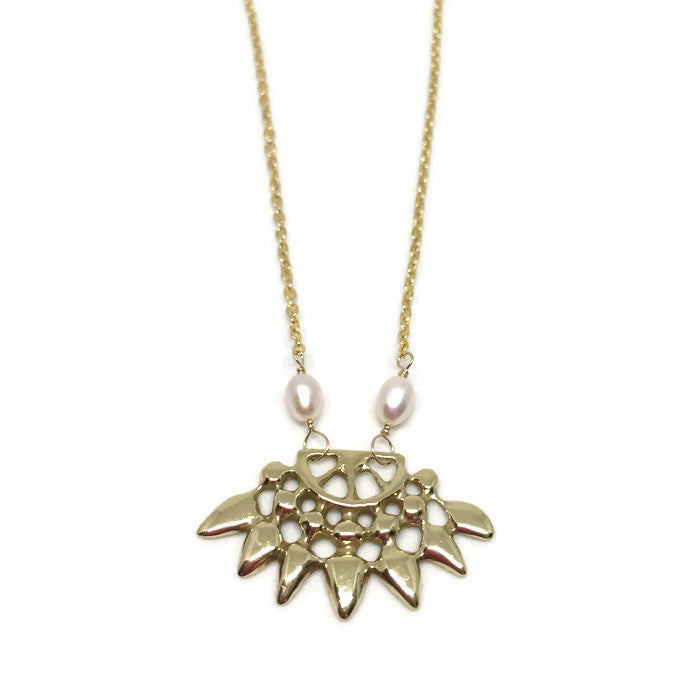 Aasha Necklace - Golden Globes Necklace Celebrity Necklace