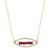 Gold Ruby Necklace - Award Show Jewelry