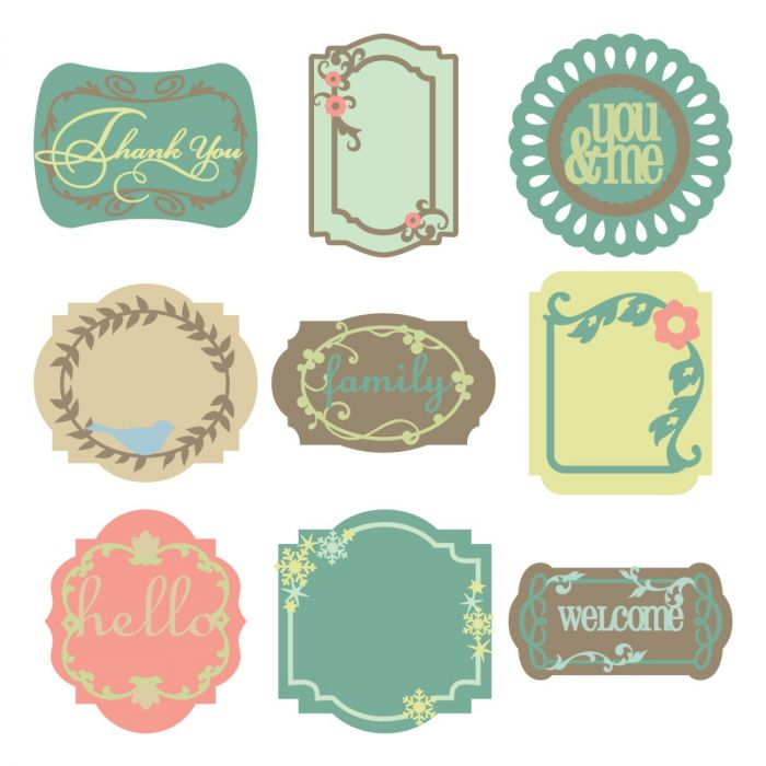 Lacy Labels Cricut Lite Cartridge