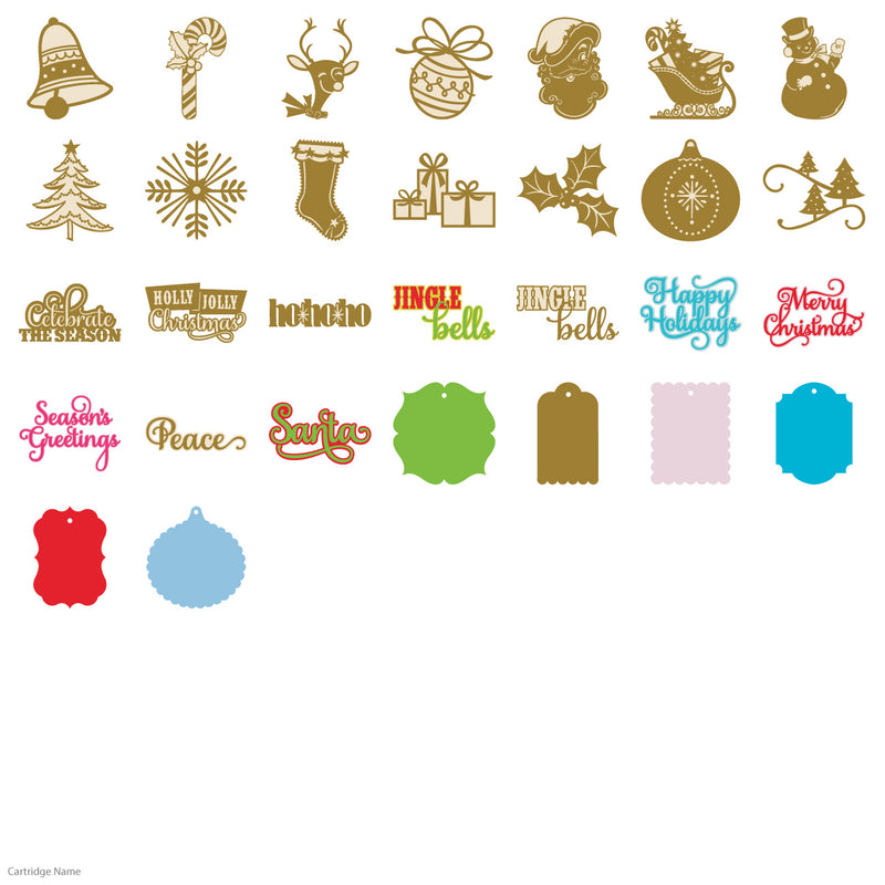 Christmas Kitsch Cricut Cartridge by Anna Griffin