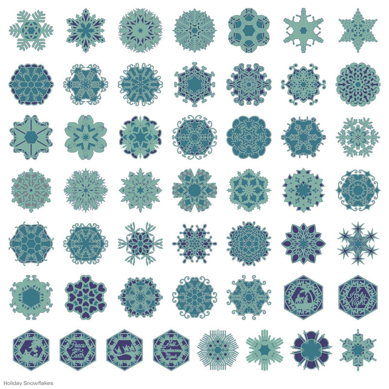 Holiday Snowflakes Cricut Cartridge