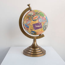 Load image into Gallery viewer, Vintage Luggage Tag Globe