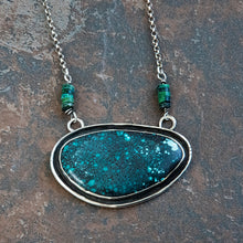Load image into Gallery viewer, Large Turquoise Pendant Necklace in Sterling Silver
