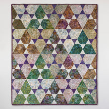 Load image into Gallery viewer, Jaybird Quilts Lotus pattern batik quilt