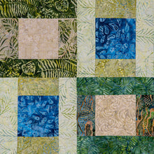 Load image into Gallery viewer, Modern Square Blocks 2 quilted wall hanging