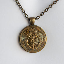 Load image into Gallery viewer, WW1 Royal Army Medical Corps Button Pendant