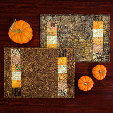 Load image into Gallery viewer, Fall Color batik placemats #1 (set of 4)