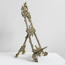 Load image into Gallery viewer, Art Nouveau Brass Easel