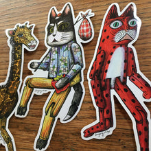 Load image into Gallery viewer, Hinged Animals Vinyl Sticker 3 Pack