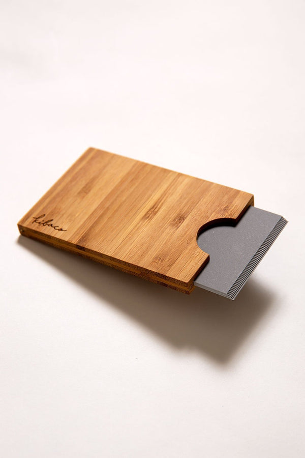 BAMBOO CARD CASE - KIBACOWORKS