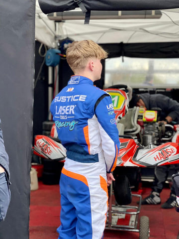 Laser Tools Racing Karter Cody Eustice in the pits @ Rye House Kart Raceway