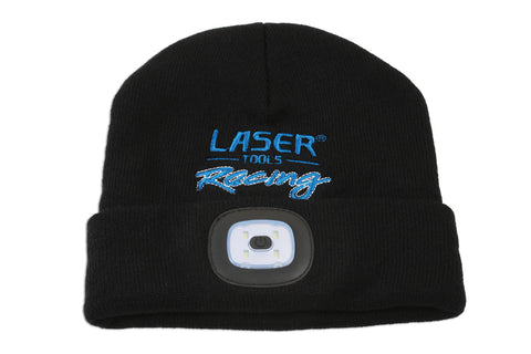 Laser Tools Racing Beanie Hat with Rechargeable Lamp