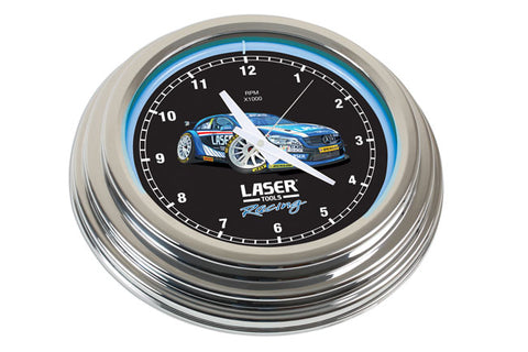 Laser Tools Racing Neon Clock