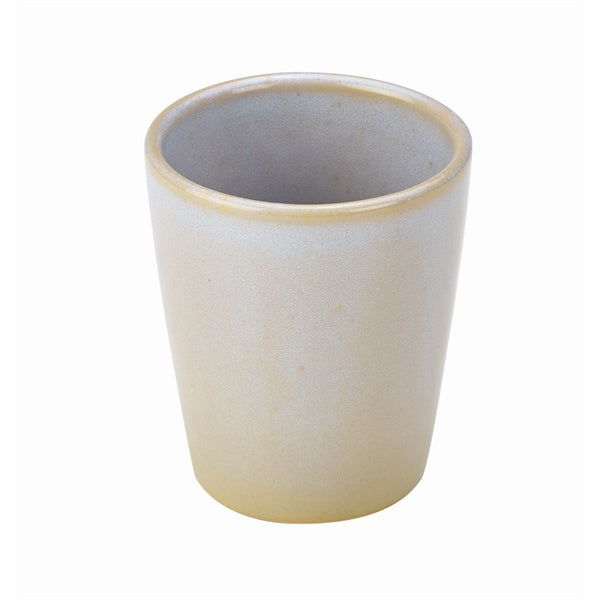 Terra Stoneware Rustic White Conical Cup 10cm (Pack of 12)