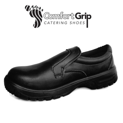 Comfort Grip Slip-On Chef Shoes With Safety Toecap