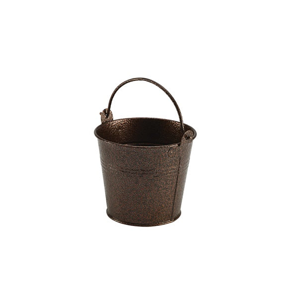 Galvanised Steel Hammered Serving Bucket 10cm Ø Copper