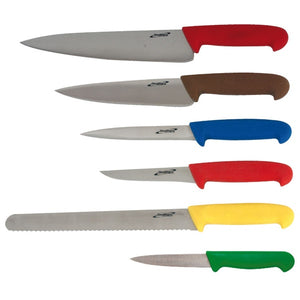 6 Piece Colour Coded Knife Set + Knife Wallet