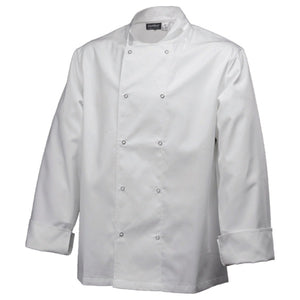 Basic Stud Chef Jacket (Long Sleeve) White