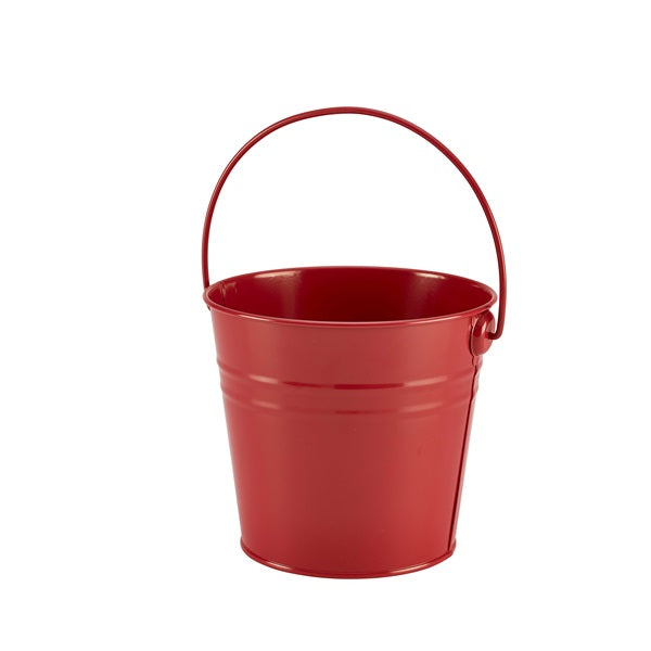 Stainless Steel Serving Bucket 16cm Ø Red
