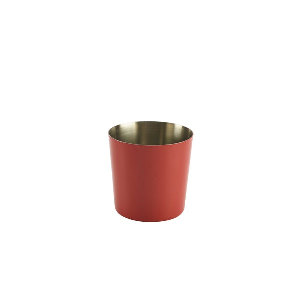 Stainless Steel  Serving Cup 8.5 x 8.5cm Red