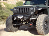 Stealth Front Winch Bumper: Bar Guard Competition Cut: Texture Black