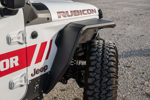 Stealth Front Fender Flare JL/JT W/Switchback LED DRL: Textured Black