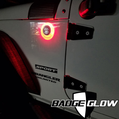 Badge Glow Red LED Backlight