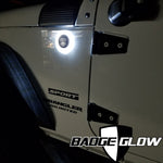 Badge Glow White LED Backlight