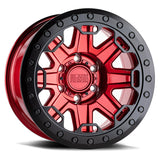 Black Rhino Rift Beadlock Candy Red with Black Ring and Bolts