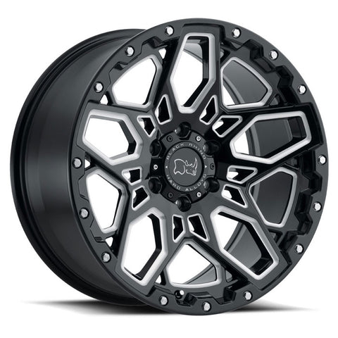Black Rhino Sharpnel Gloss Black with Milled Spokes