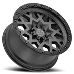 Black Rhino Sprocket Matte Gunmetal with Dark Lip Edge