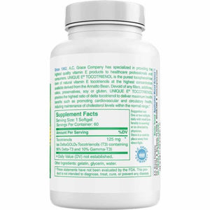 Load image into Gallery viewer, UNIQUE E® Tocotrienols – Tocopherol FREE – 60 Softgels