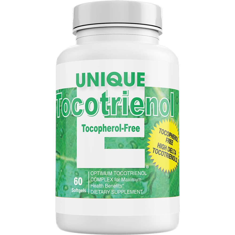 UNIQUE E® Tocotrienols – Tocopherol FREE – 60 Softgels