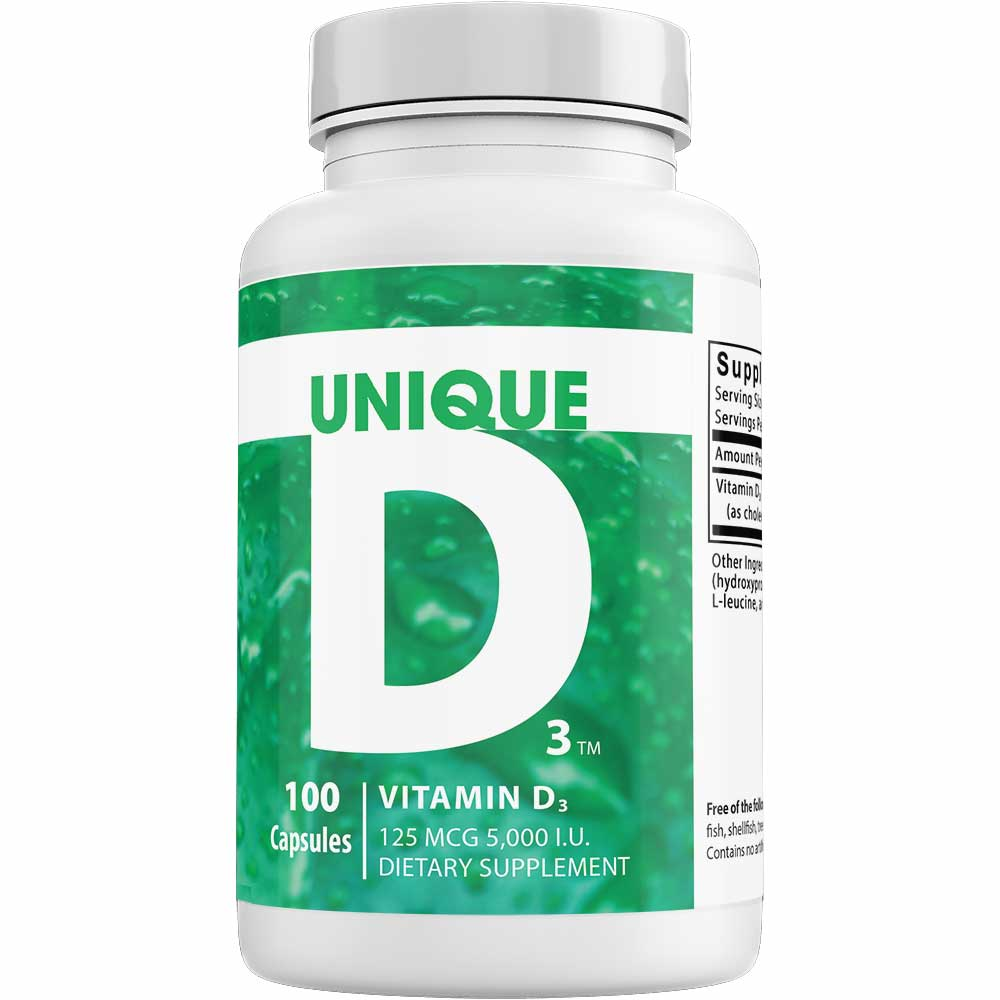 UNIQUE Vitamin D3 ™ – 5,000 I.U.