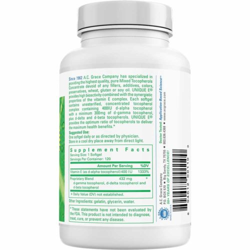 Load image into Gallery viewer, UNIQUE E® Mixed Tocopherols Concentrate – 120 Softgels