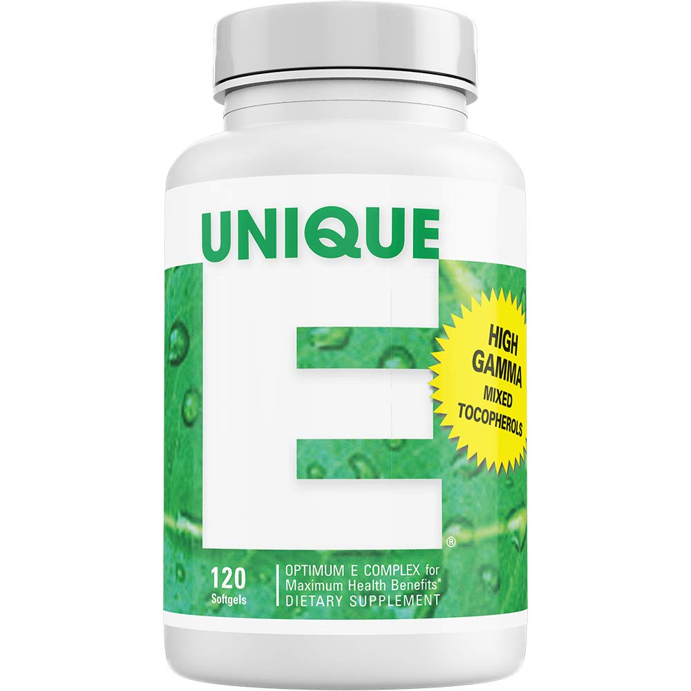 UNIQUE E® Mixed Tocopherols Concentrate – 120 Softgels