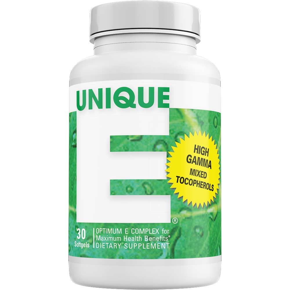UNIQUE E® Mixed Tocopherols Concentrate – 30 Softgels