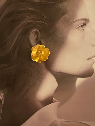KENZO PARIS Flower Clip On Earrings