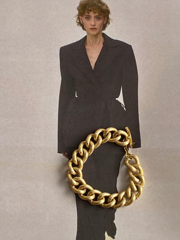 1970 - 1980 Gold Plated Textured Chain Bracelet