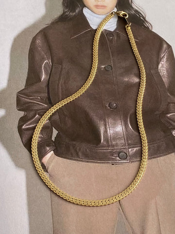 1970-1980 Snake Gold Plated Chain Necklace