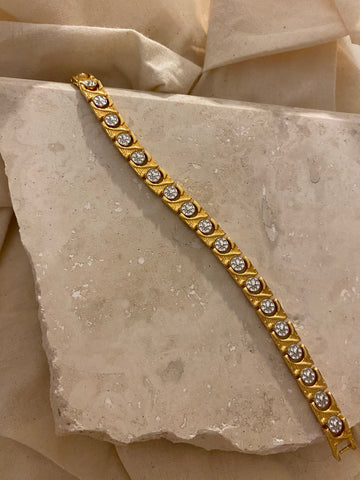 Modernist Reversible Gold Filled Tennis Bracelet