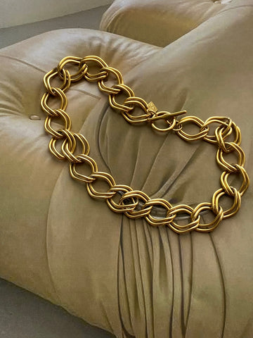 ANNE KLEIN Gold Plated Toggle Chain Necklace