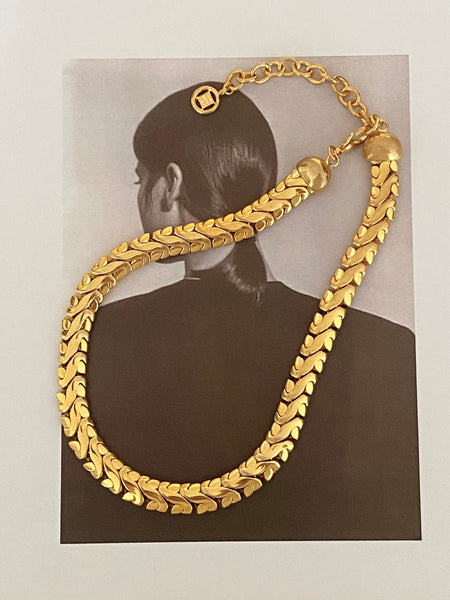 GIVENCHY Heavy Gold Plated Chain Necklace